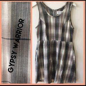 Gypsy Warrior Plaid Sleeveless Dress
